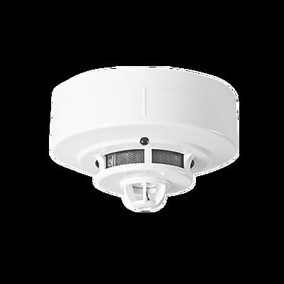 Detector de humo fotoeléctrico con detector de temperatura, conexión a 4 hilos