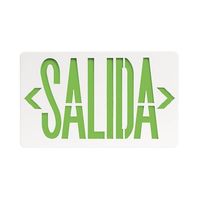 Letrero LED de SALIDA Universal con alto brillo/uso en pared, lateral o techo/Batería de Respaldo Incluida.