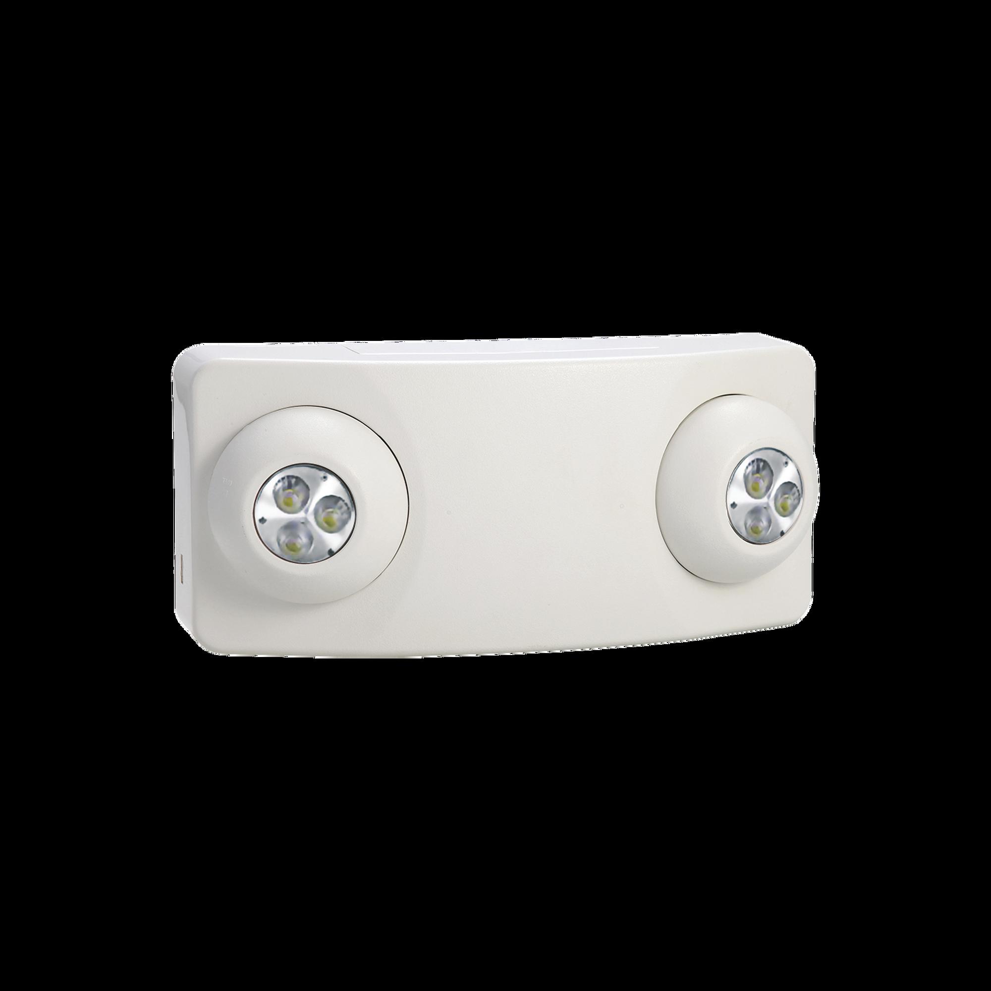 Luz DUAL LED de Emergencia/350lm/Uso Rudo/Montaje en pared o Techo/Bateria de Respaldo Incluida
