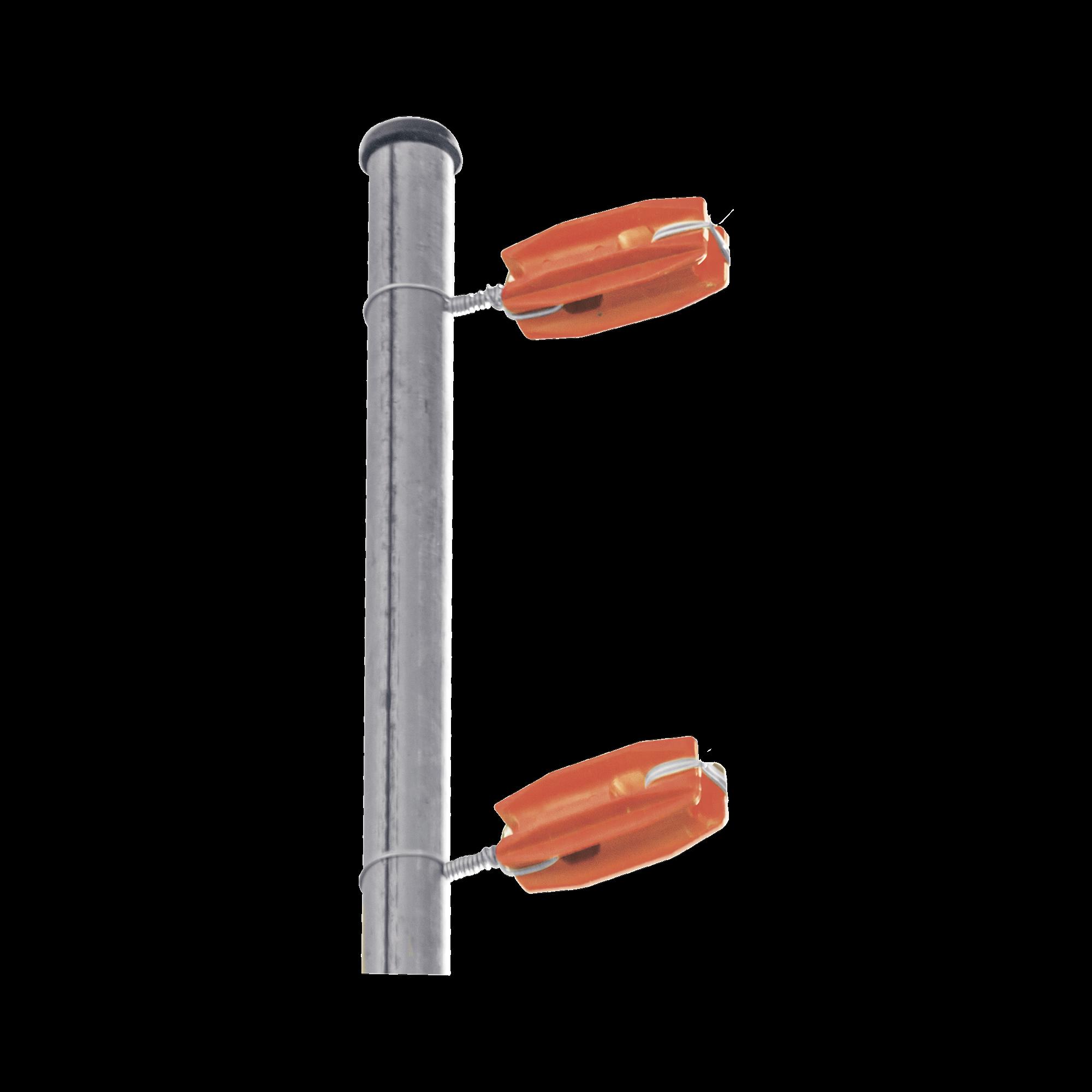 Aislador de color Naranja para postes de esquina de alta Resistencia con Anti UV de uso en cercos eléctricos
