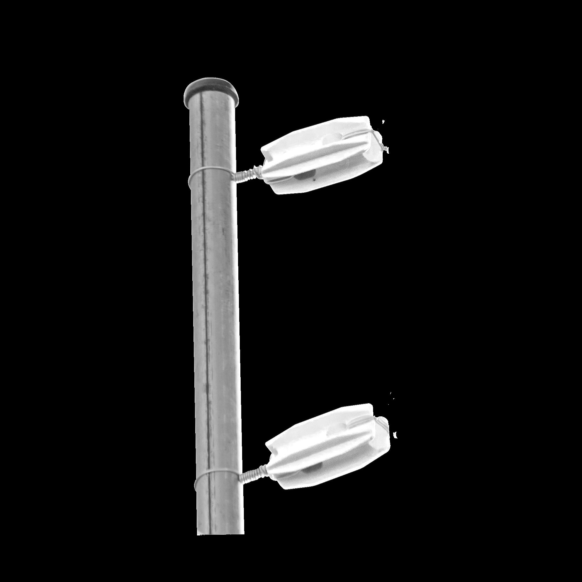 Aislador Blanco para postes de esquina de alta Resistencia con Anti UV de uso en cercos eléctricos