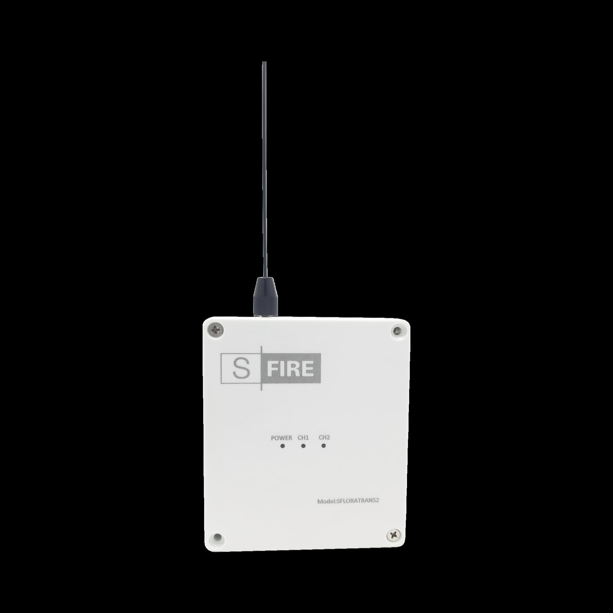 Transmisor inalámbrico / Entrada de 2 contactos secos NA / Distancia máxima de transmisión 2500 metros (Linea de vista)