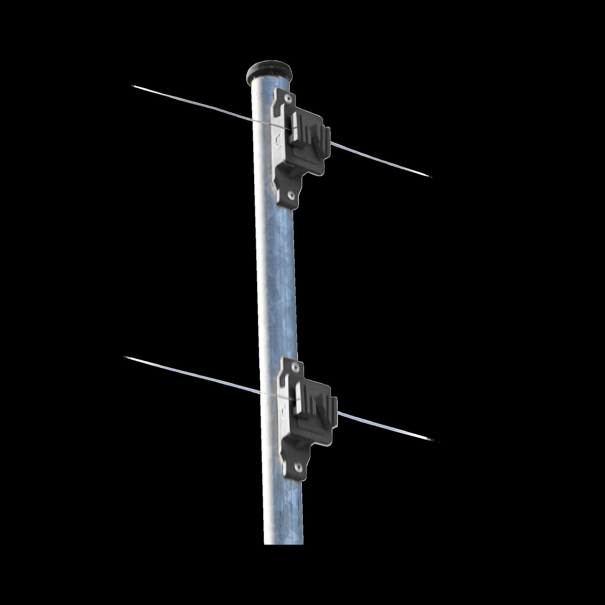 Aislador de Paso reforzado para cercos eléctricos, resistente al clima extremoso