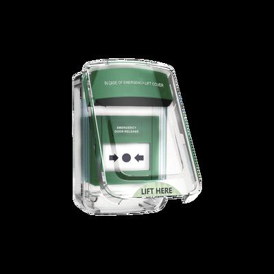 Protector de policarbonato transparente para usos múltiples en exterior con espaciador