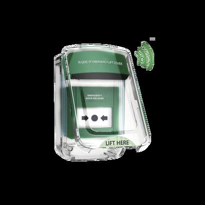 Protector de policarbonato transparente para usos múltiples en exterior con espaciador y sirena