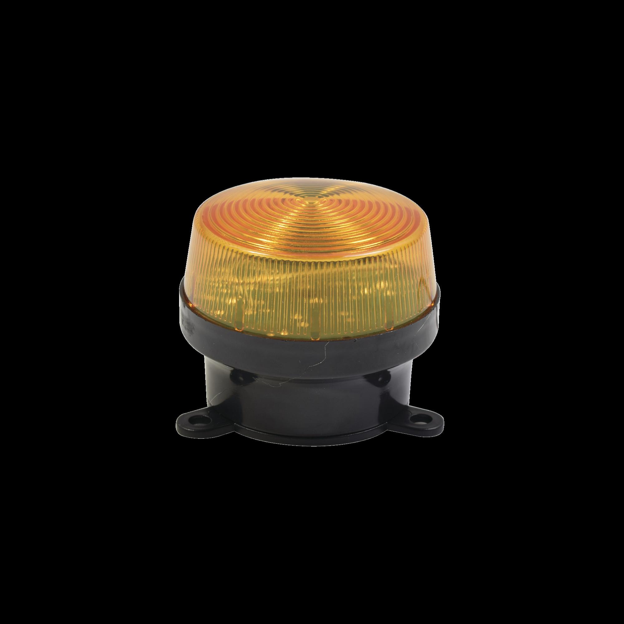 Mini estrobo color Amber con montaje de pestaña.
