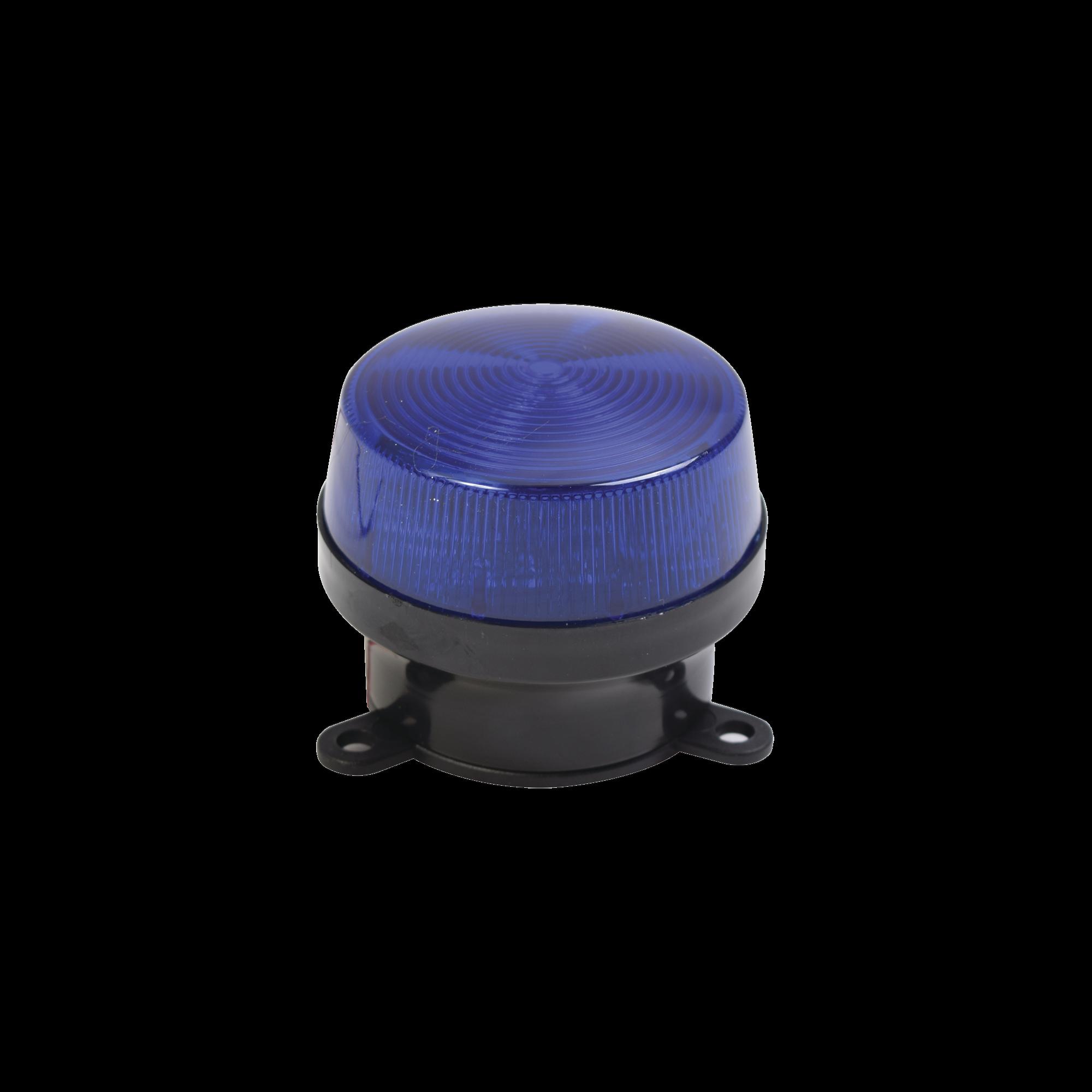 Mini estrobo color azul con montaje de pestaña.