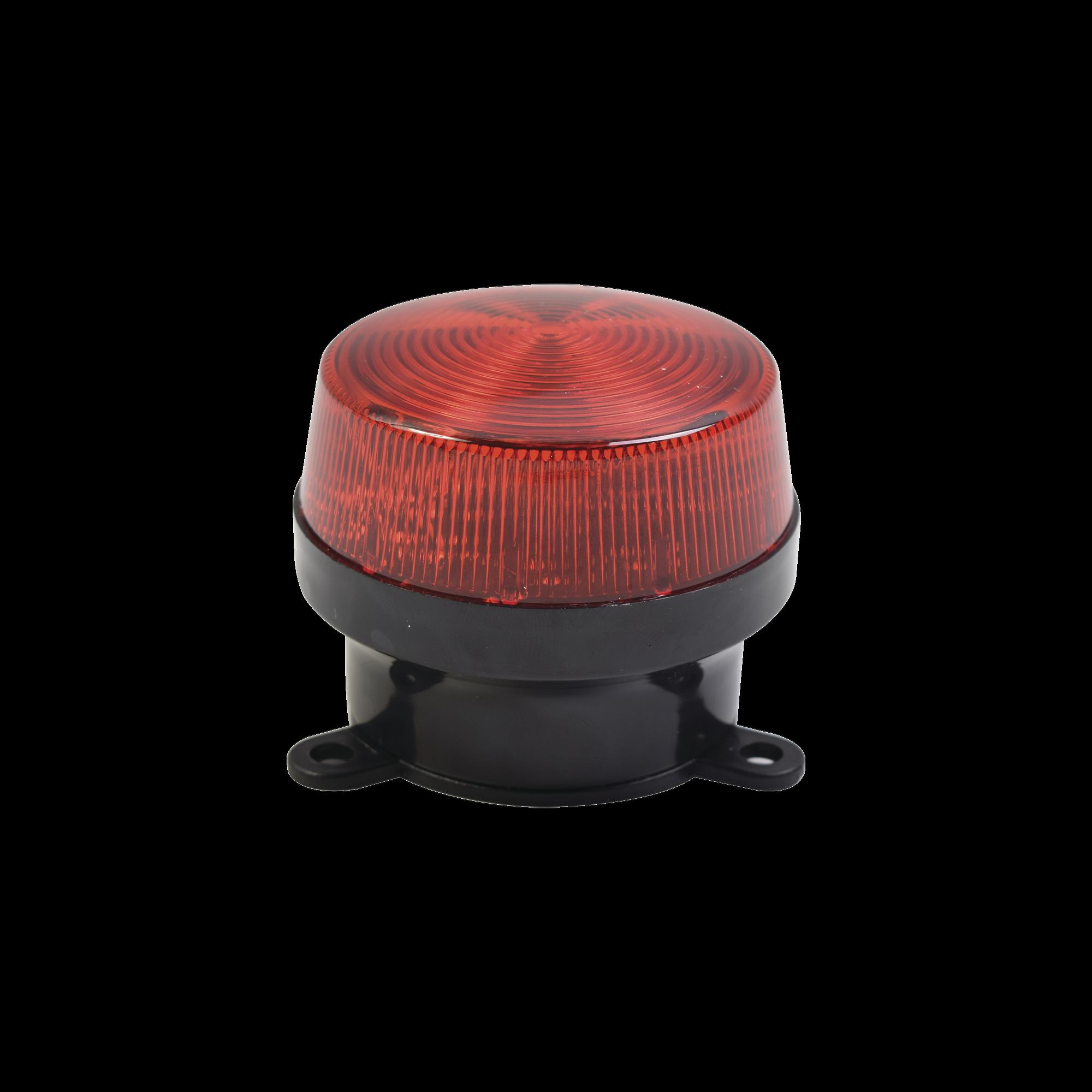 Mini estrobo color Rojo con montaje de pestaña.
