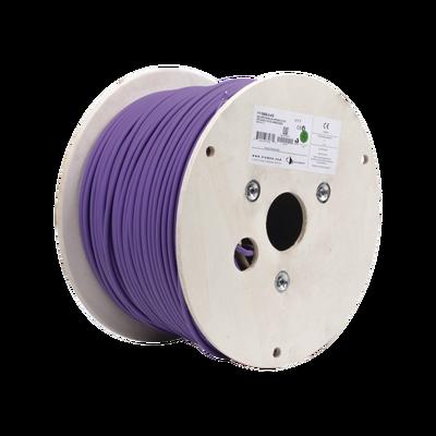 Bobina de Cable Blindado F/UTP de 4 Pares, Z-MAX, Cat6A, Soporte de Aplicaciones 10GBase-T, LS0H (Libre de Gases Toxicos), Color Violeta, 305m