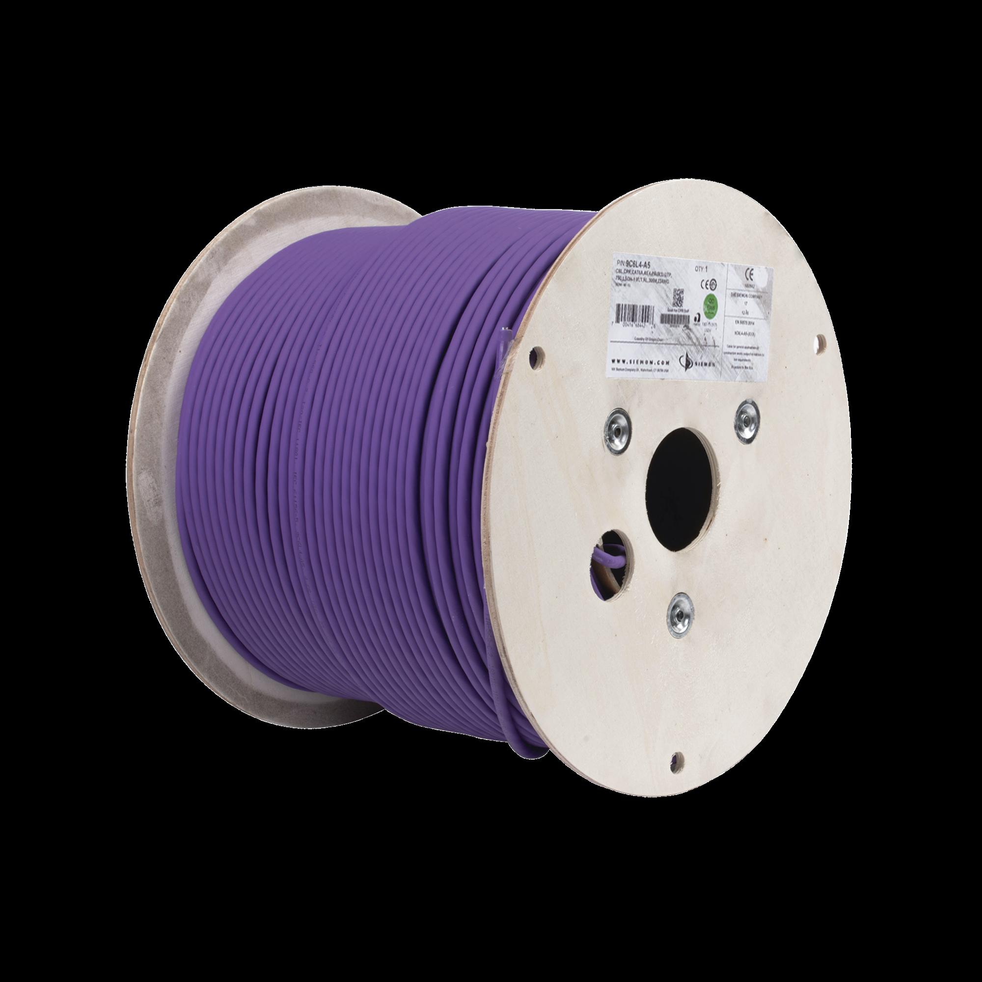 Bobina de Cable U/UTP de 4 pares, Z-MAX, Cat6A, Soporte de Aplicaciones 10GBase-T, LS0H, Color Violeta, 305m