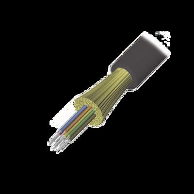 Cable de Fibra Óptica de 6 hilos, Interior/Exterior, Tight Buffer, No Conductiva (Dieléctrica), LS0H, Multimodo OM4 50/125 optimizada, 1 Metro