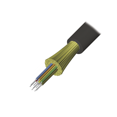 Cable de Fibra Óptica de 4 hilos, Interior/Exterior, Tight Buffer, No Conductiva (Dielectrica), Plenum, Monomodo OS2, 1 Metro