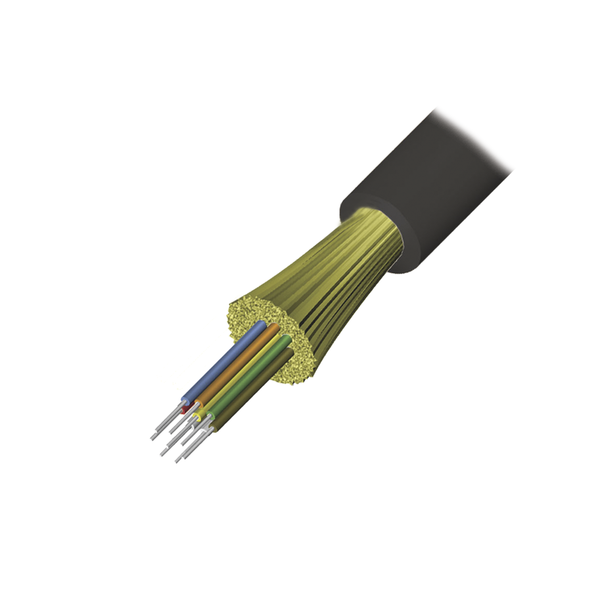 Cable de Fibra optica de 6 hilos, Interior/Exterior, Tight Buffer, No Conductiva (Dielectrica), LS0H, Monomodo OS1/OS2 9/125, 1 Metro