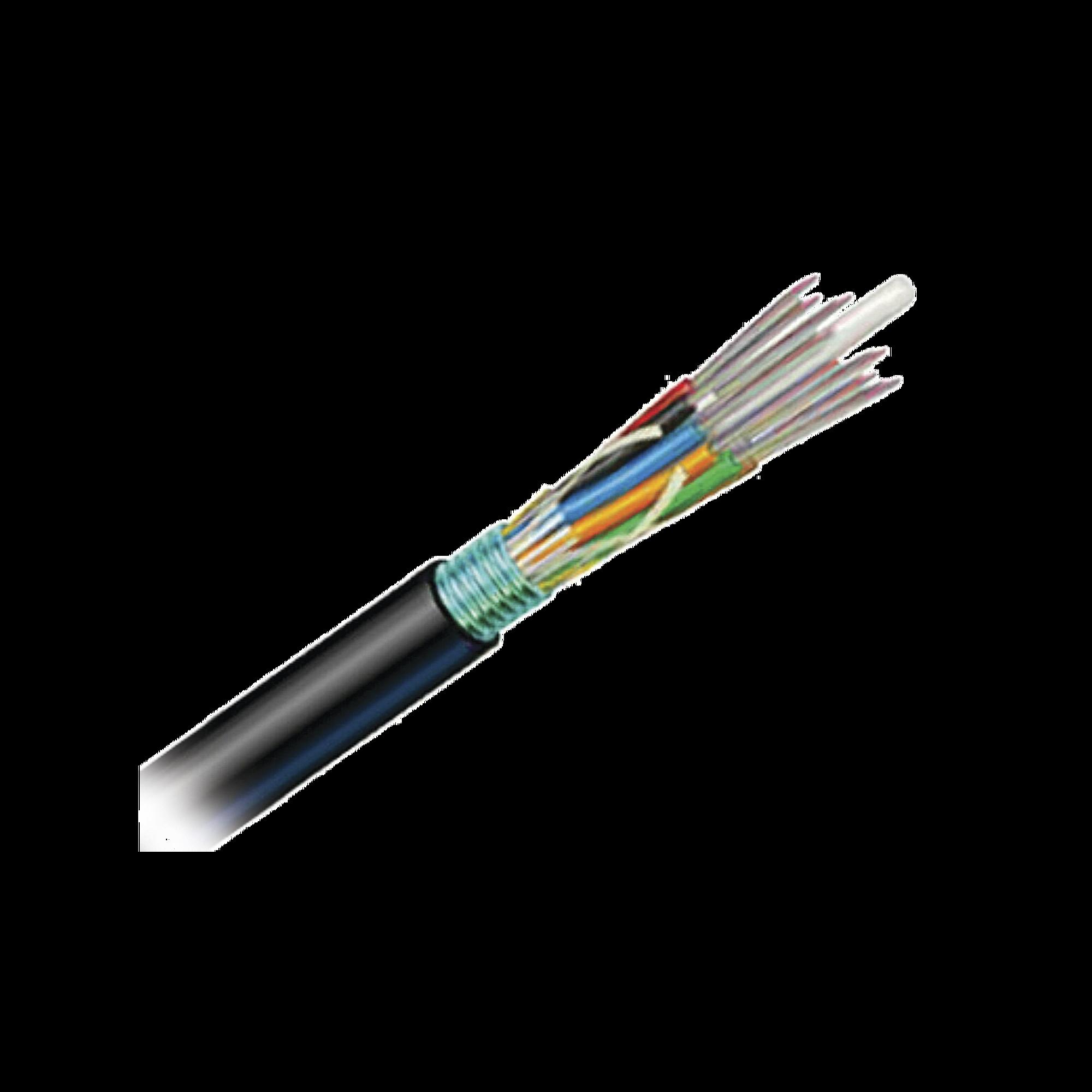 Cable de Fibra optica 6 hilos, OSP (Planta Externa), Armada, Gel, HDPE (Polietileno de alta densidad), Multimodo OM3 50/125 Optimizada, 1 Metro