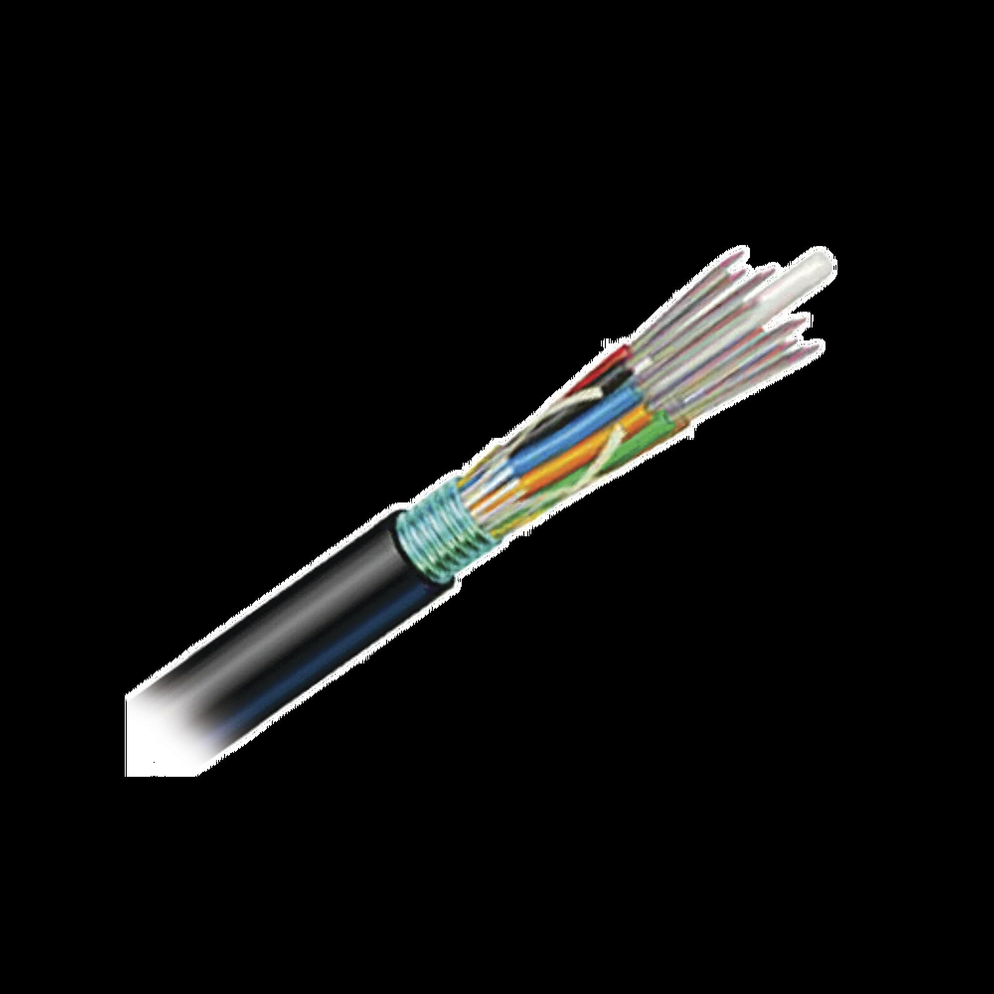 Cable de Fibra Óptica de 12 hilos, OSP (Planta Externa), Armada, Gel, HDPE (Polietileno de alta densidad), Monomodo OS2, 1 Metro