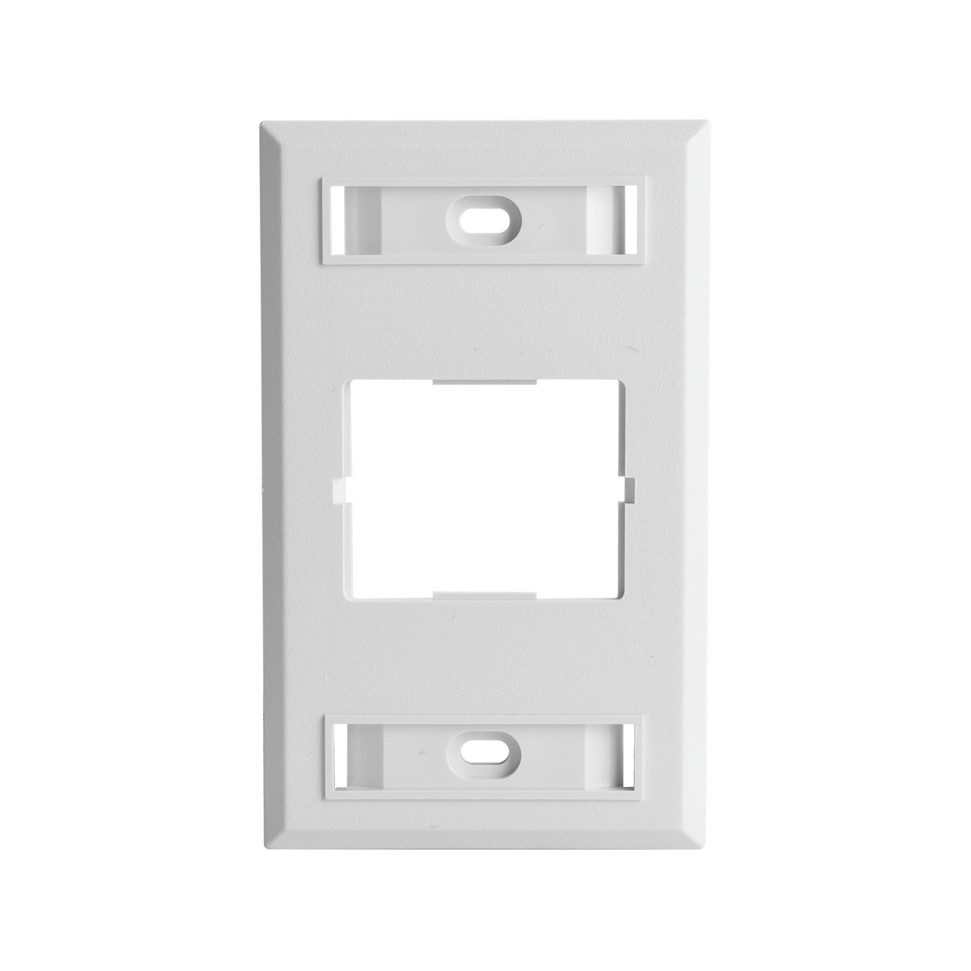 Placa de Pared CT, Para un Acoplador, Color Blanco