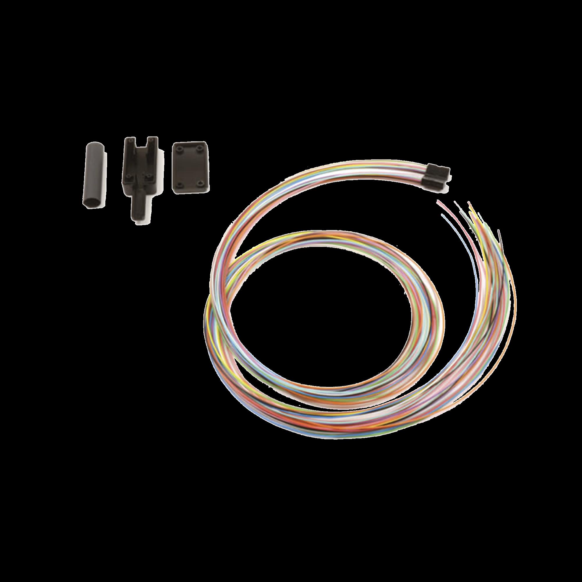Kit Breakout de 24 fibras, para convertir fibra (Loose Tube) de 250 a 900 micras, 1 metro