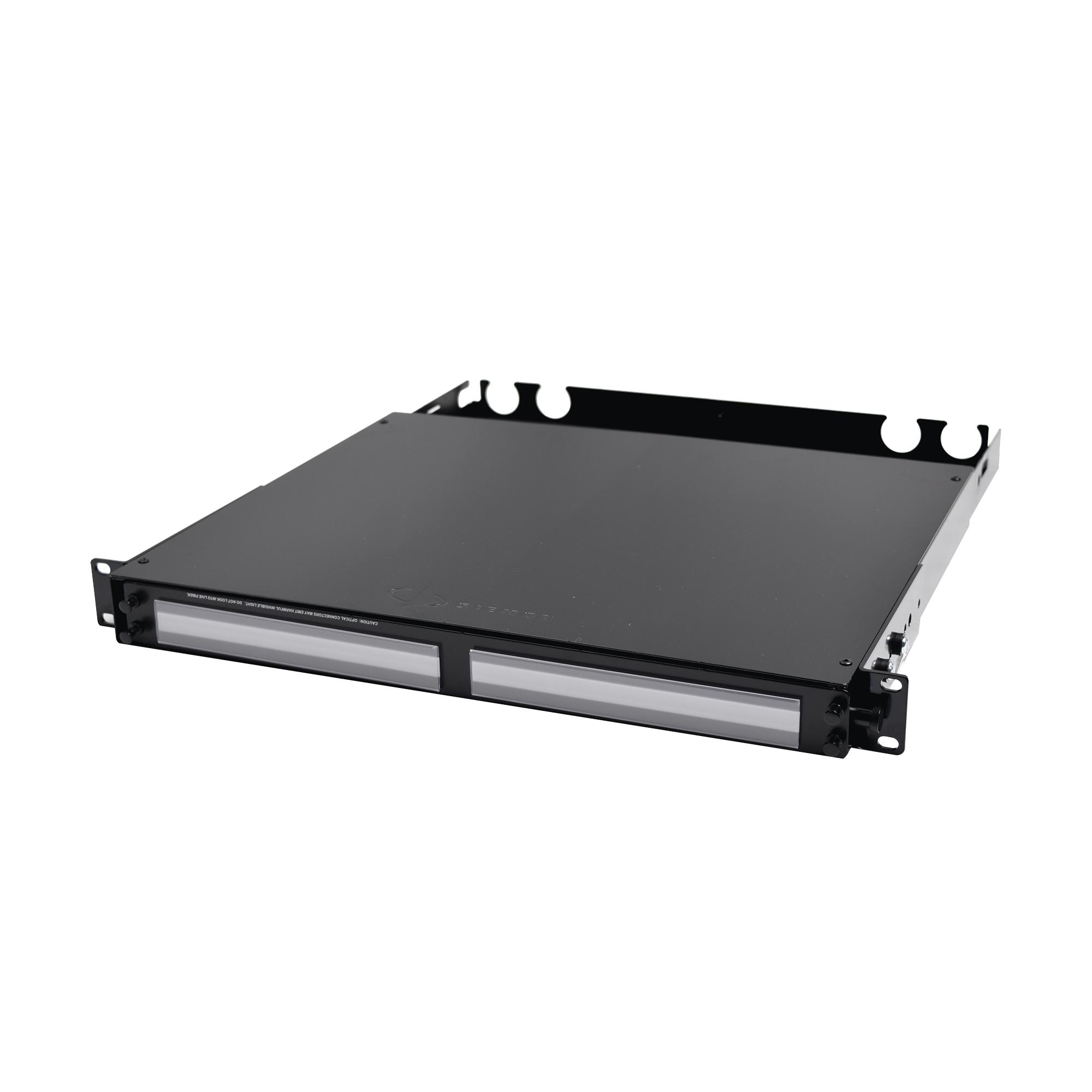 Panel de Conexión de Fibra de Alta Densidad, Para Rack de 19in, Acepta 4 Placas Plug and Play, Hasta 96 Fibras, 1 UR
