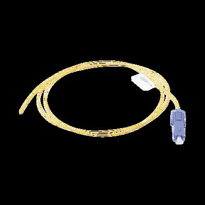 Pigtail de Fibra Óptica SC/UPC Simplex, Monomodo OS1/OS2 XGLO, OFNR, Color Amarillo, 1 Metro