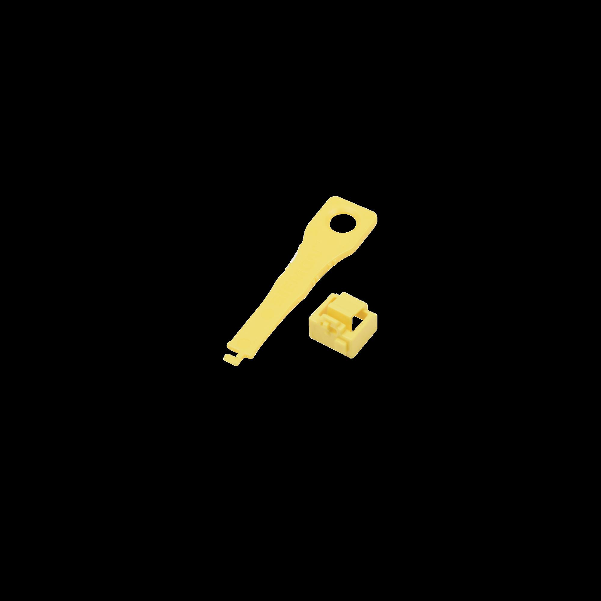 Protector de bloqueo LockIT, para salida RJ45, incluye una llave universal, bolsa con 10 piezas
