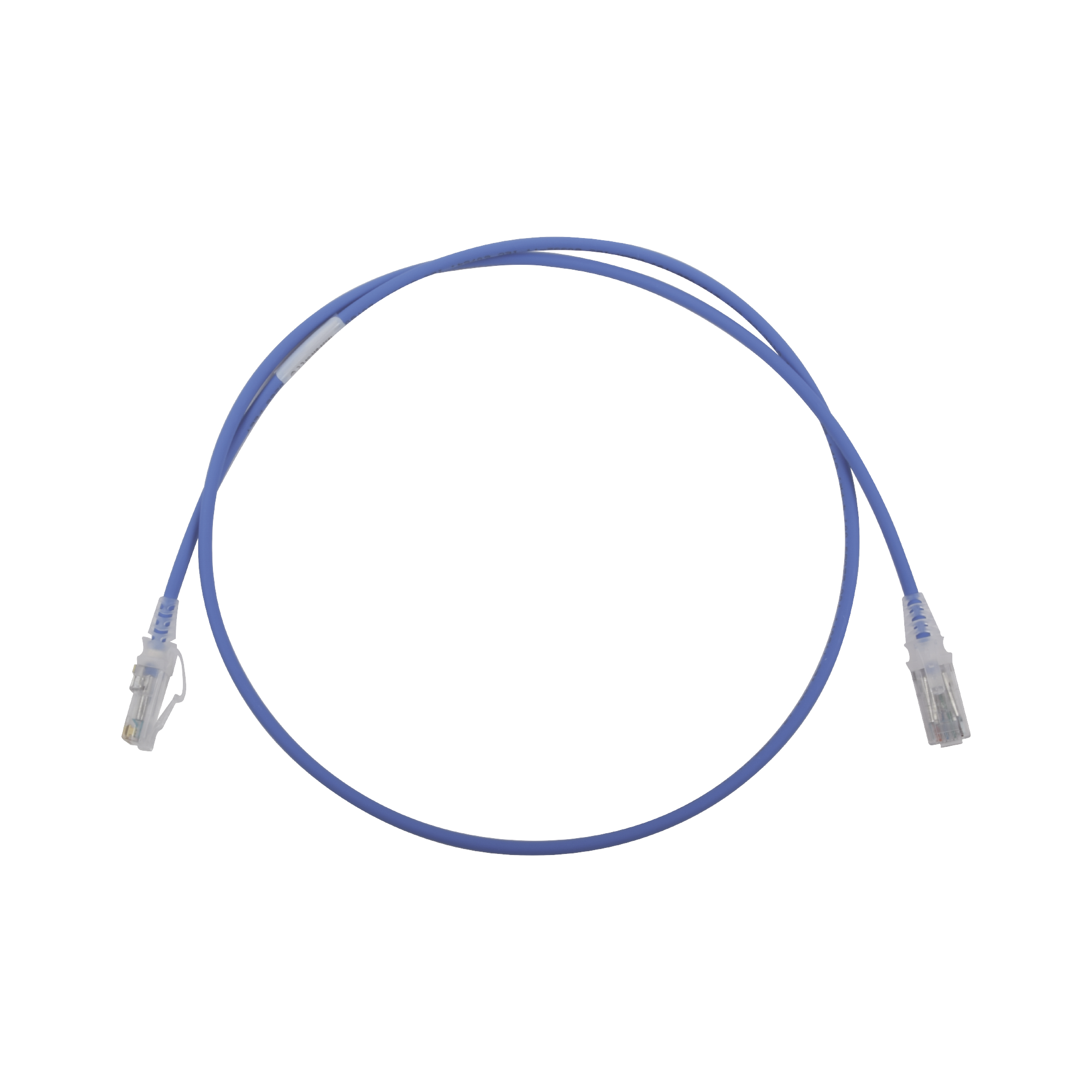 Patch Cord MC6 Modular Cat6 UTP, CM/LS0H, 3ft, Color Azul, Diámetro Reducido (28AWG)