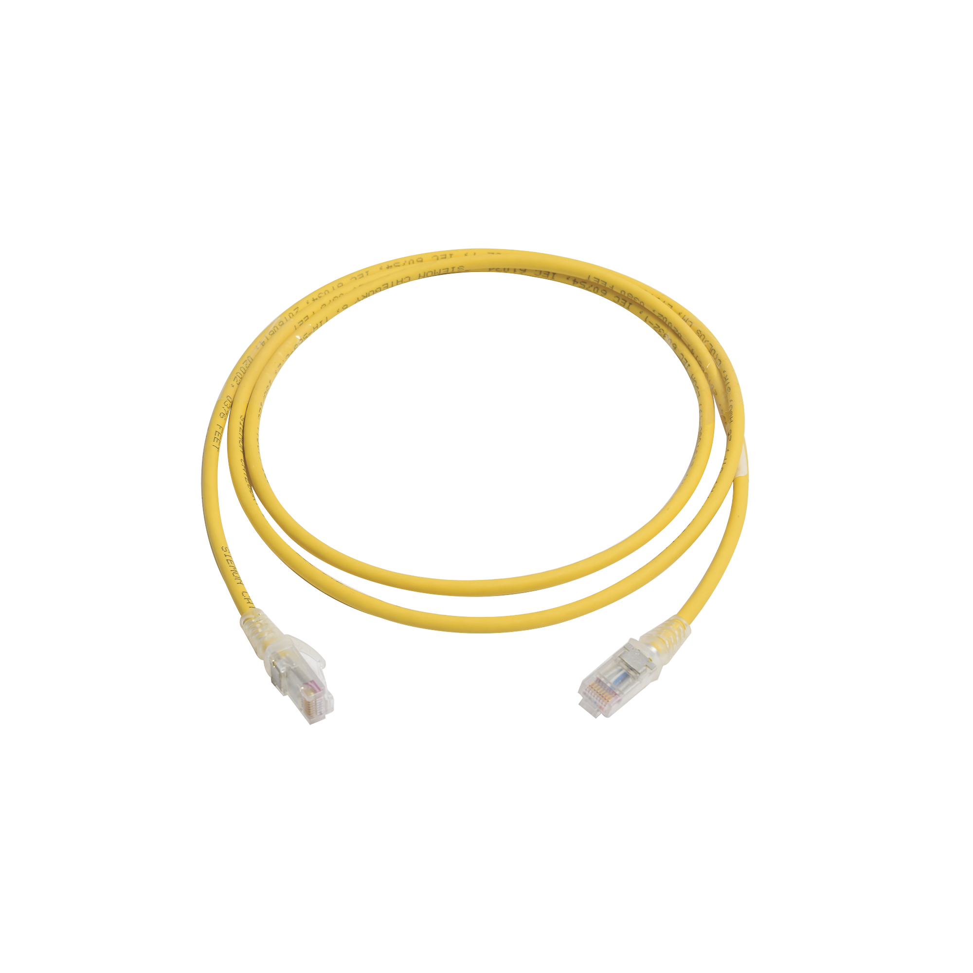 Patch Cord MC6 Modular Cat6 UTP, CM/LS0H, 5ft, Color Amarillo