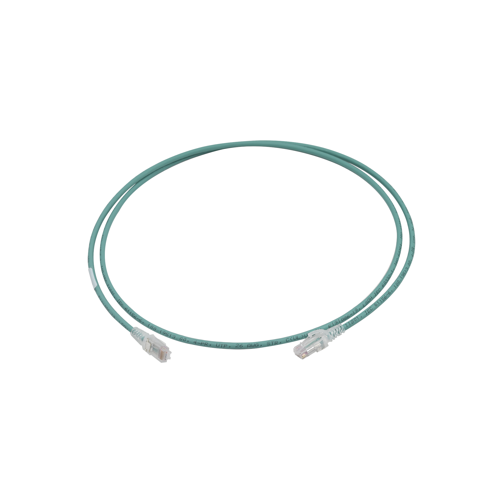 Patch Cord MC6 Modular Cat6 UTP, CM/LS0H, 5ft, Color Verde