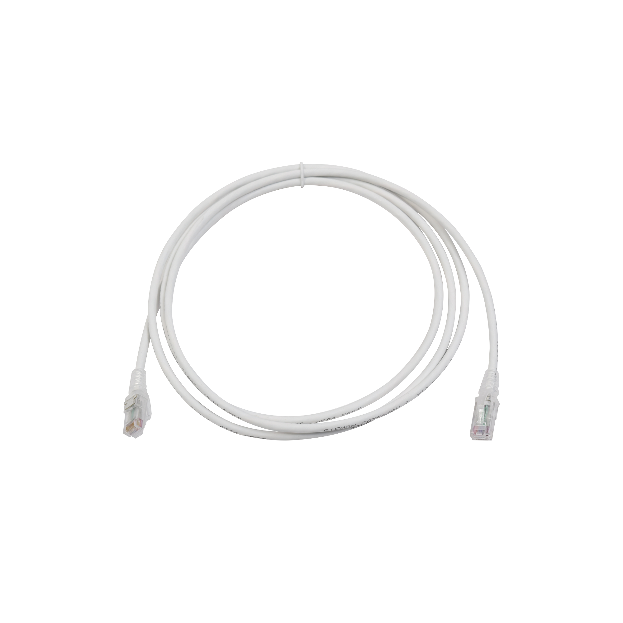 Patch Cord MC6 Modular Cat6 UTP, CM/LS0H, 7ft, Color Blanco, Versión Bulk (Sin Empaque Individual)