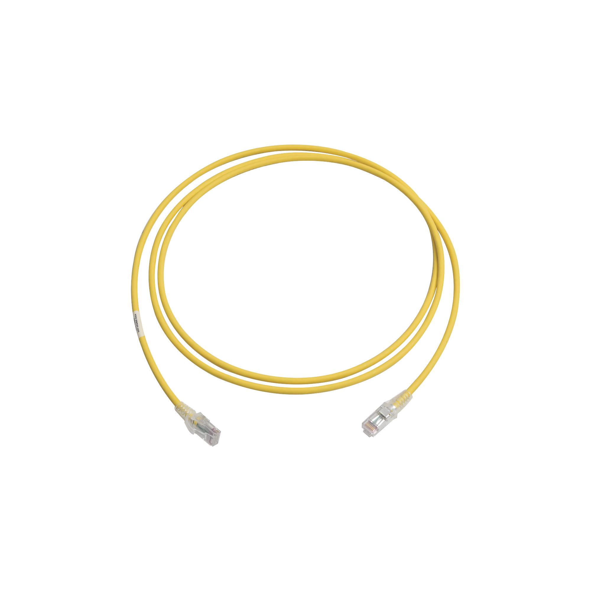 Patch Cord MC6 Modular Cat6 UTP, CM/LS0H, 7ft, Color Amarillo