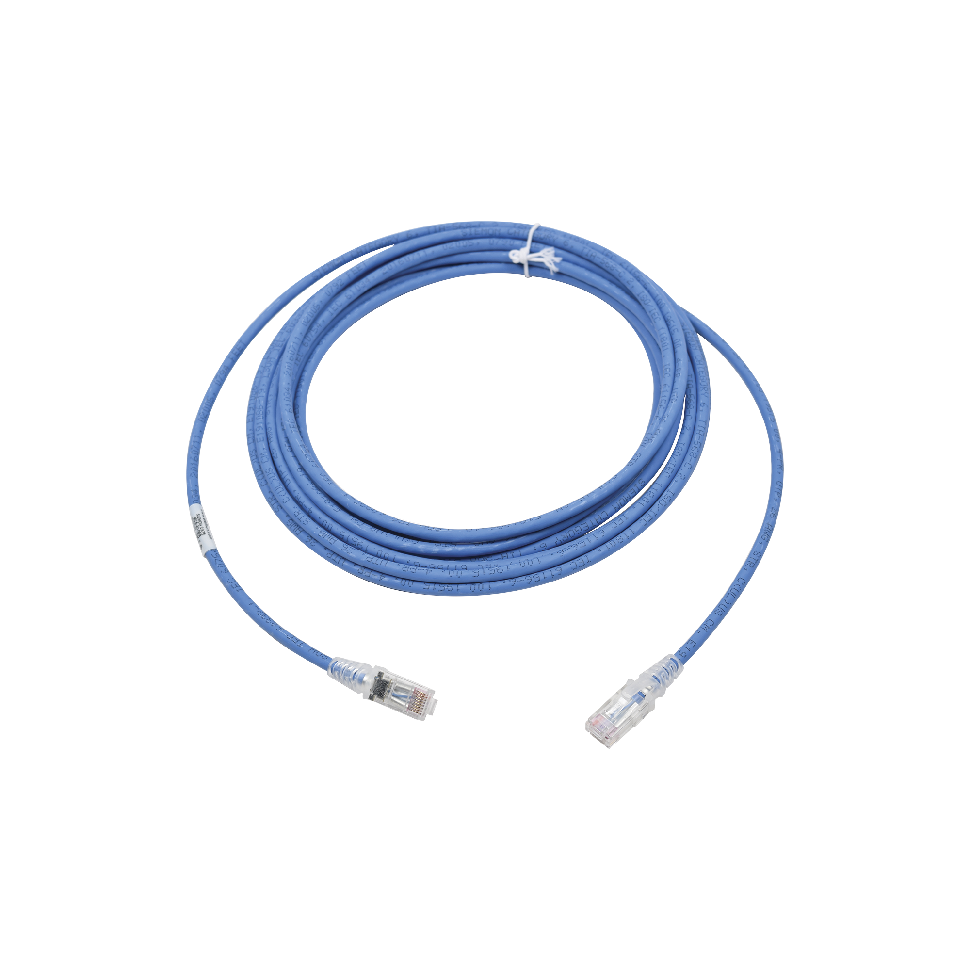 Patch Cord MC6 Modular Cat6 UTP, CM/LS0H, 20ft, Color Azul, Versión Bulk (Sin Empaque Individual)