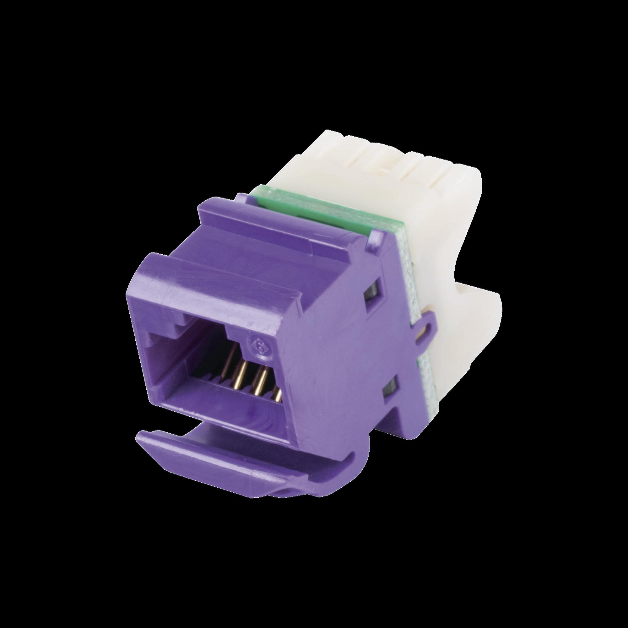 Jack MAX UTP Categoría 6, Estilo 110, Montaje Angulado, Color Violeta