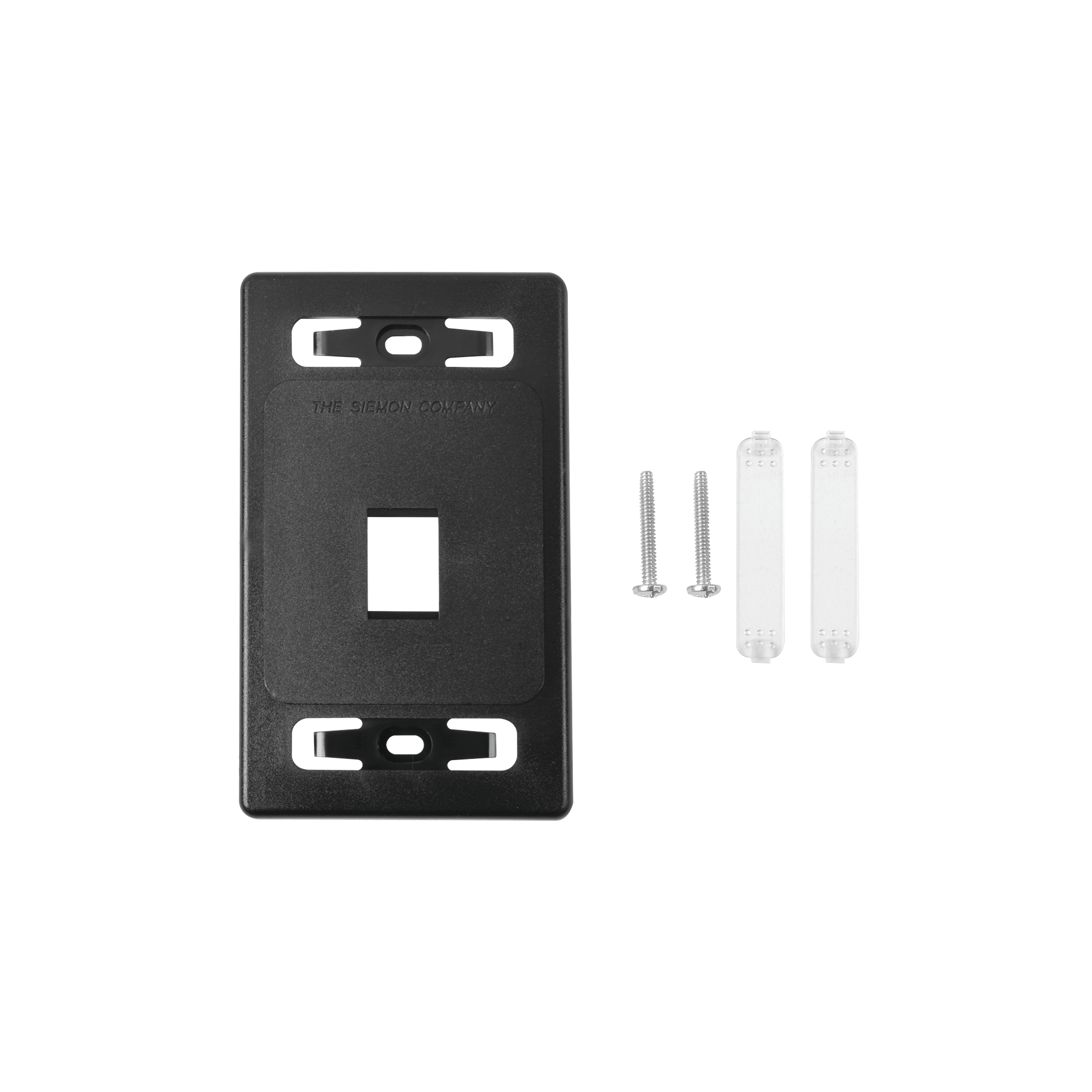 Placa de pared modular MAX, de 1 salida, Color Negro