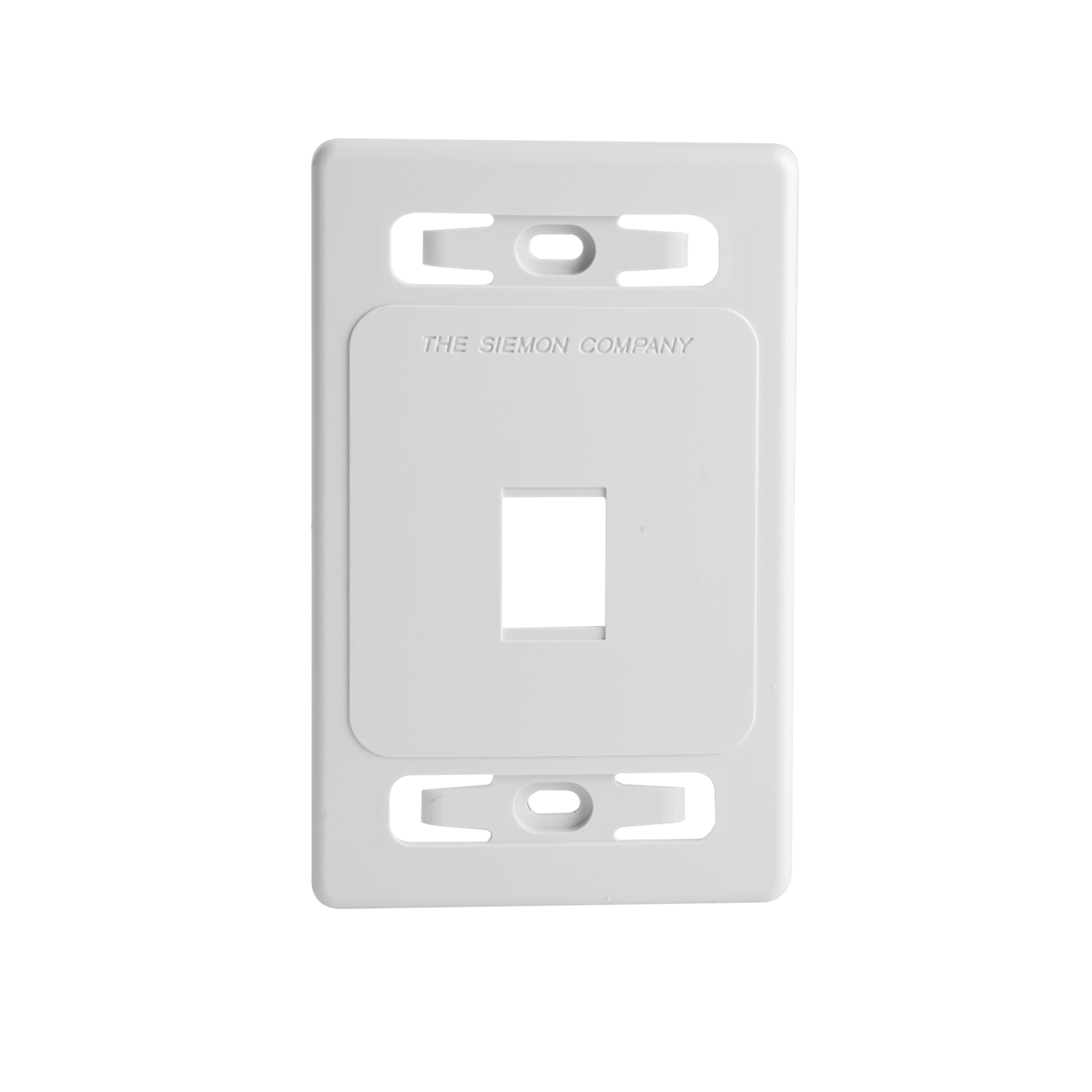 Placa de pared modular MAX, de 1 salida, color blanco