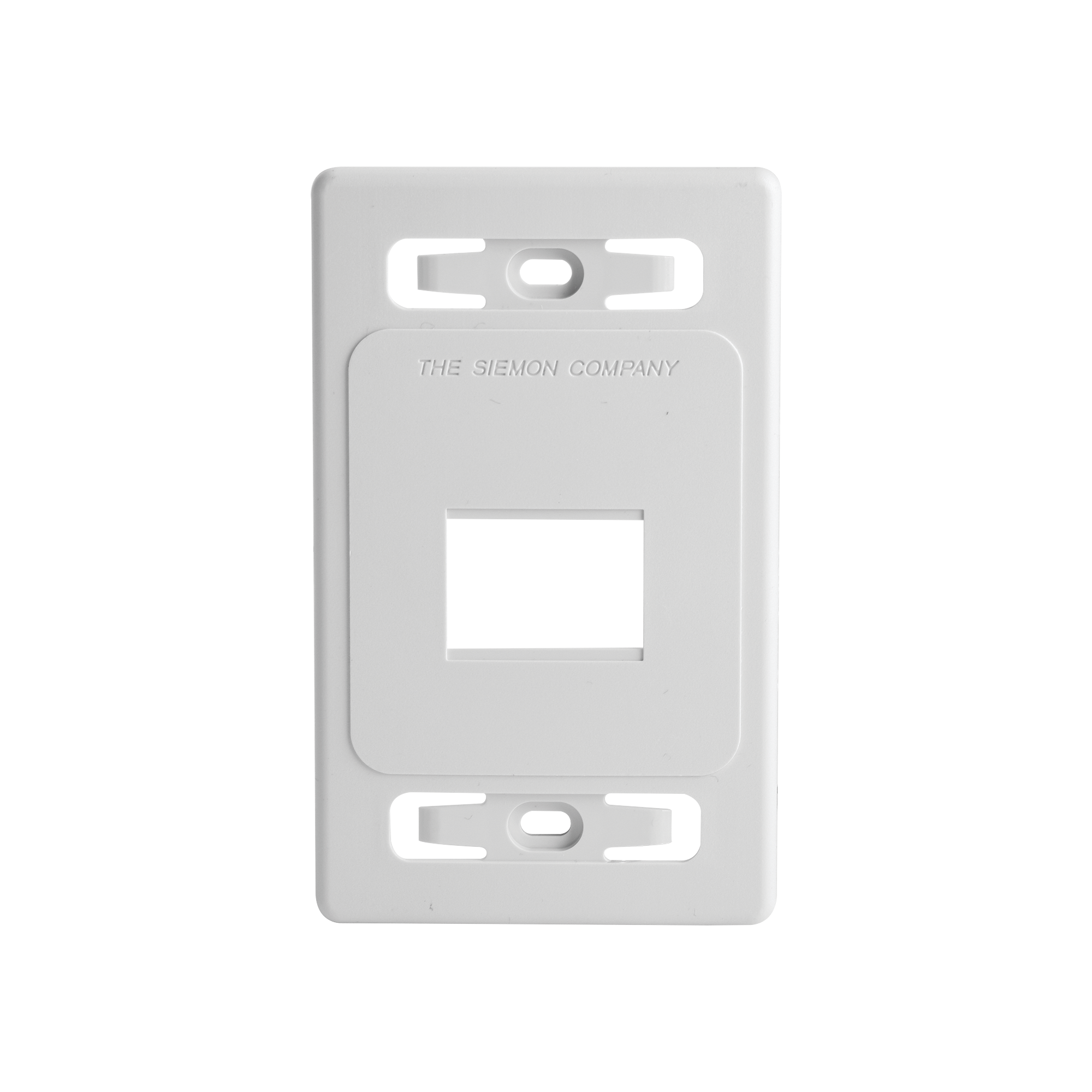 Placa de pared modular MAX, de 2 salidas, color blanco