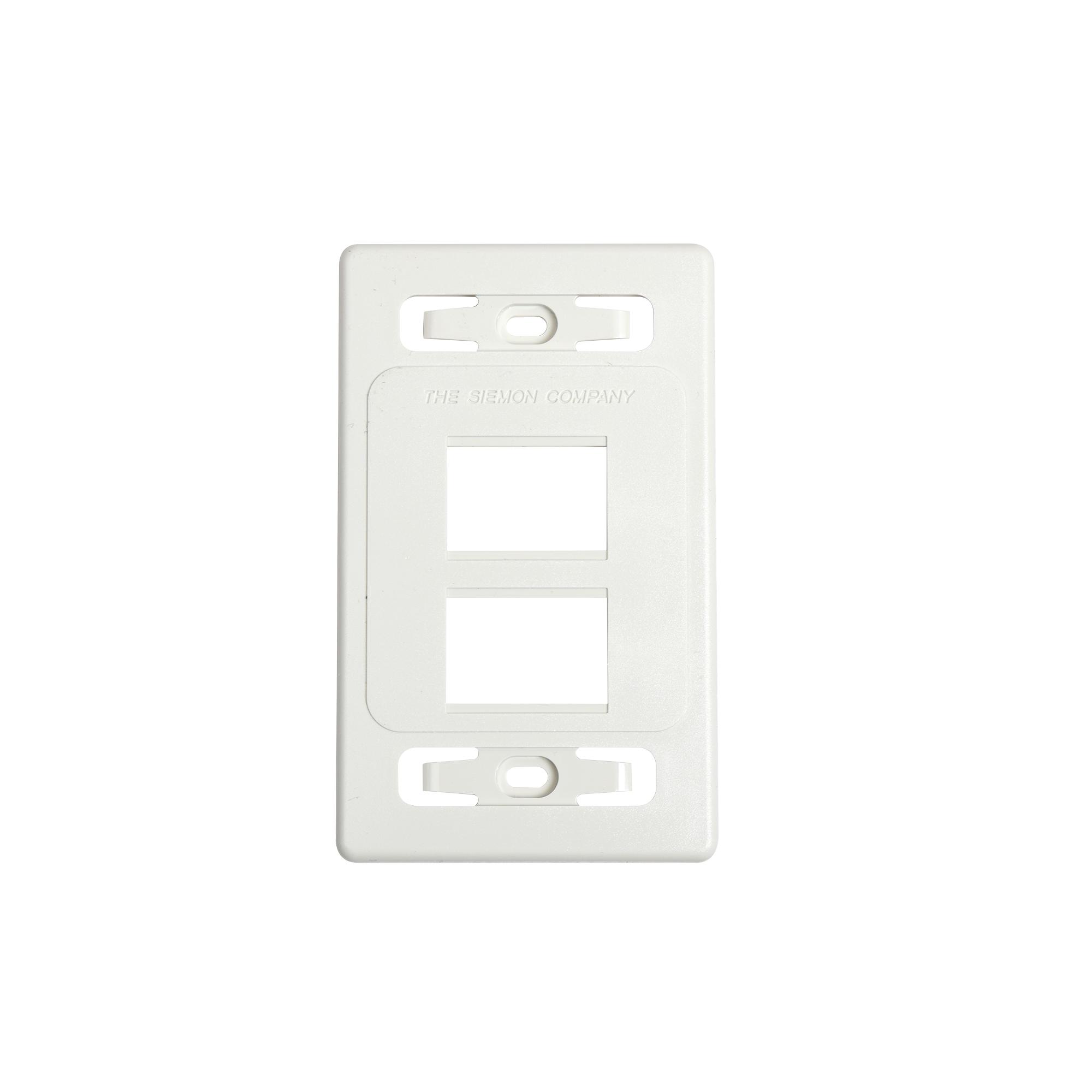 Placa de pared modular MAX, de 4 salidas, color blanco, versión bulk (Sin Empaque Individual)