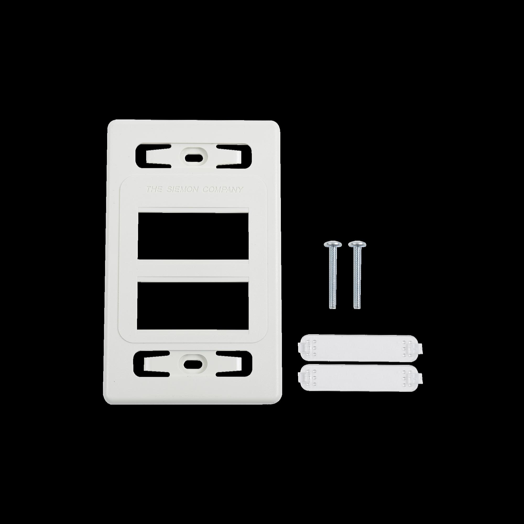 Placa de pared modular MAX, de 6 salidas, color blanco, versión bulk (Sin Empaque Individual)