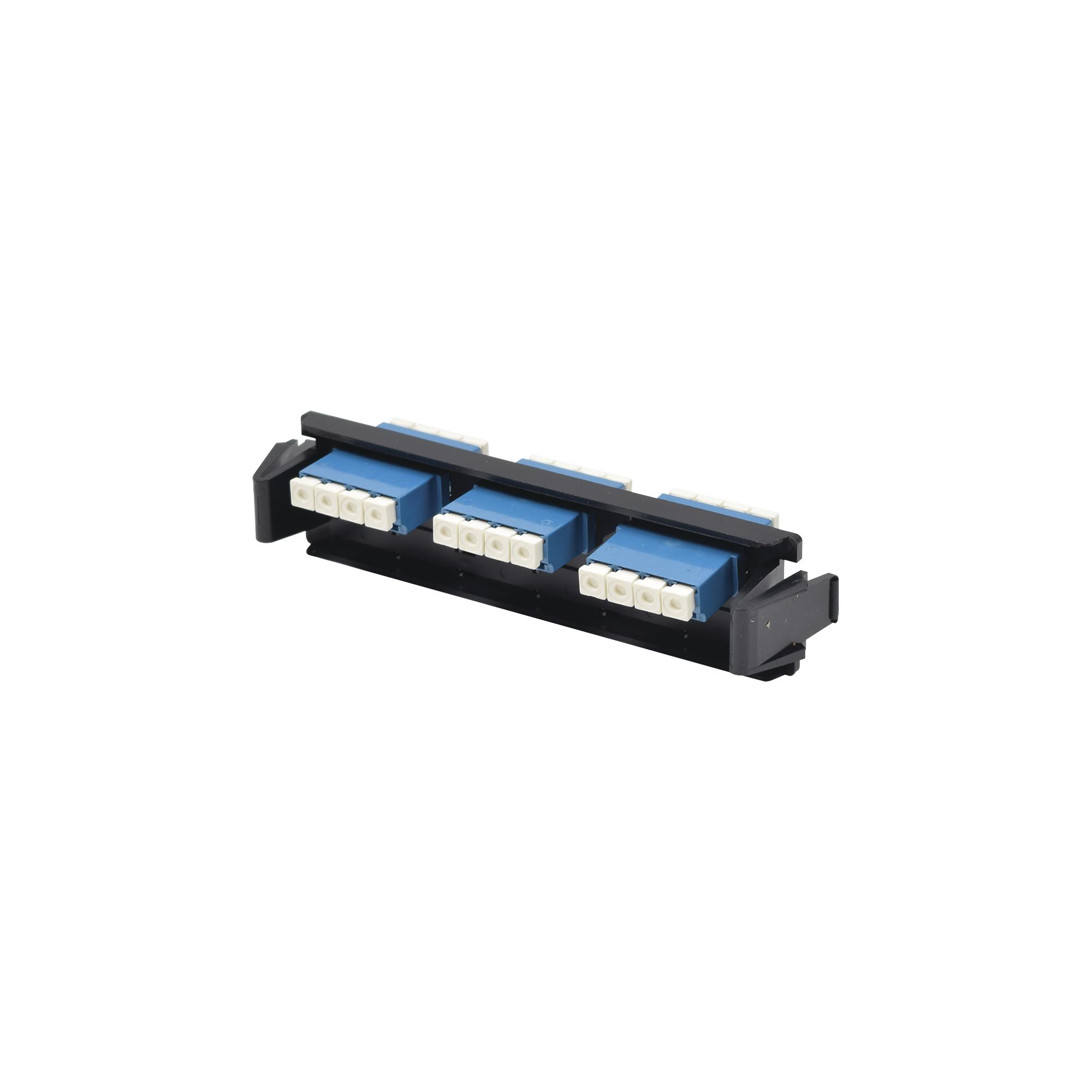 Placa acopladora de Fibra óptica Quick-Pack, Con 6 Conectores LC/UPC Duplex (12 Fibras), Para Fibra Monomodo, Azul