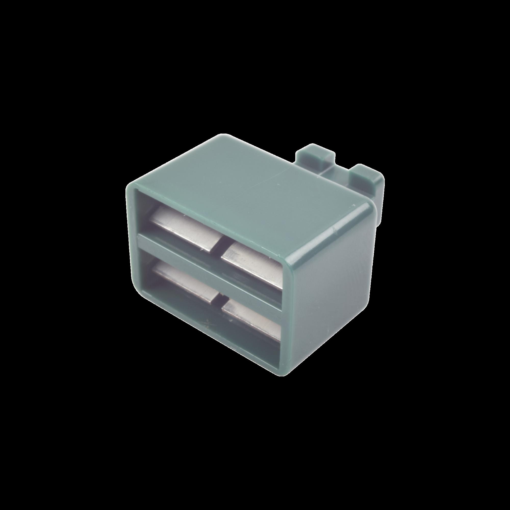 Clip de Puente, Para Uso con Regletas S66 de Siemon, de 1 par, Color Verde