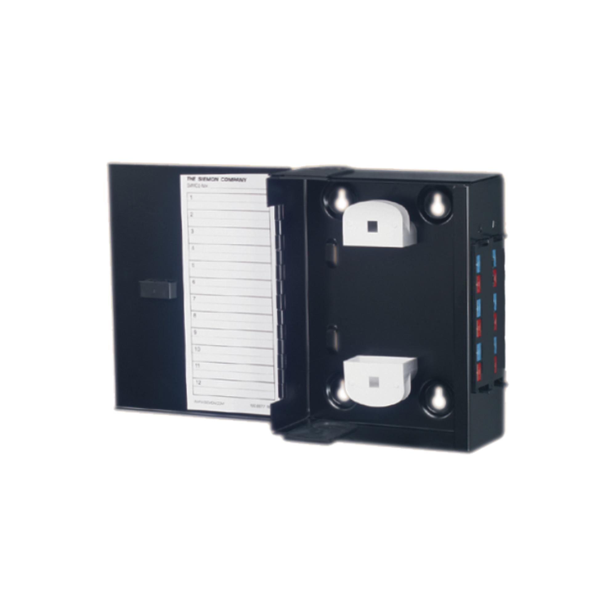 Mini Caja de Conexión de Fibra óptica, Para Montaje en Pared, Hasta 48 Puertos LC (Acepta Dos Placas Acopladoras), Color Negro