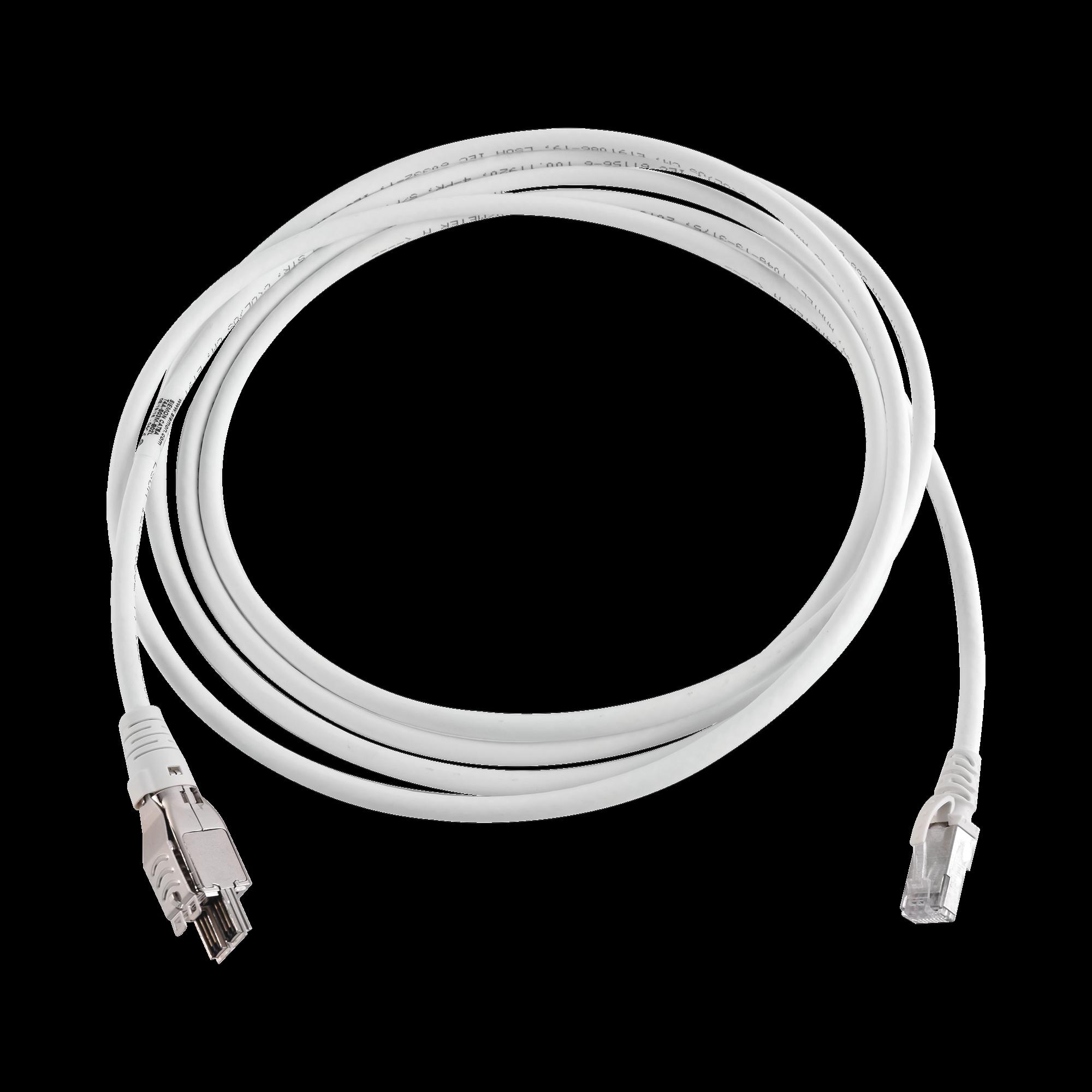 Patch Cord TERA Cat6A 1/10G Ethernet, de 4 pares y conector modular, LS0H, Color Marfil, 10m