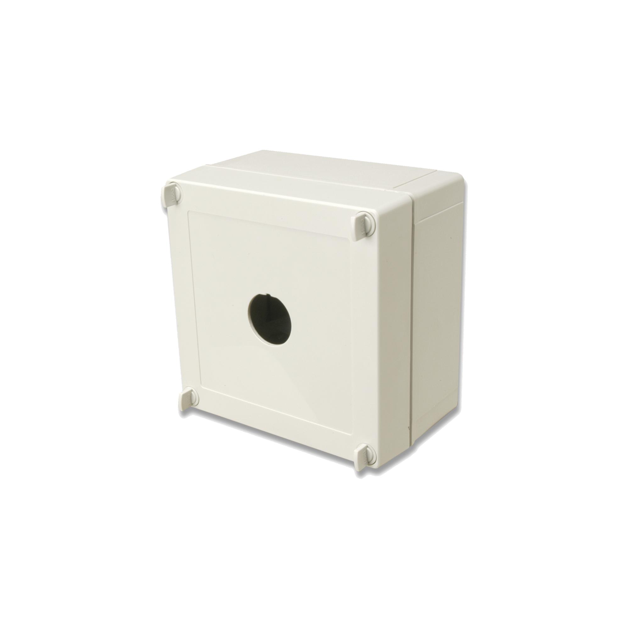 Caja industrial de conexión (Ruggedized), de 1 puerto de cobre o fibra, con protección IP66/IP67 (NEMA 4X)