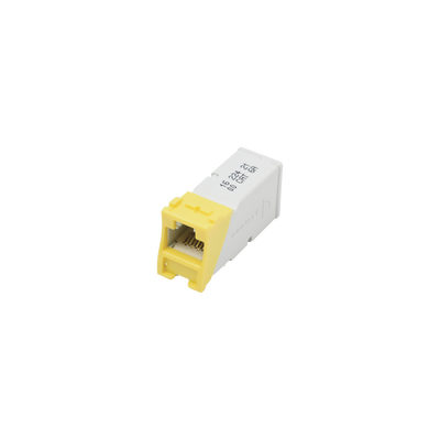 Jack Z-MAX UTP Categoría 6, Montaje híbrido en Placa de Pared (Plano y Angulado), Color Amarillo