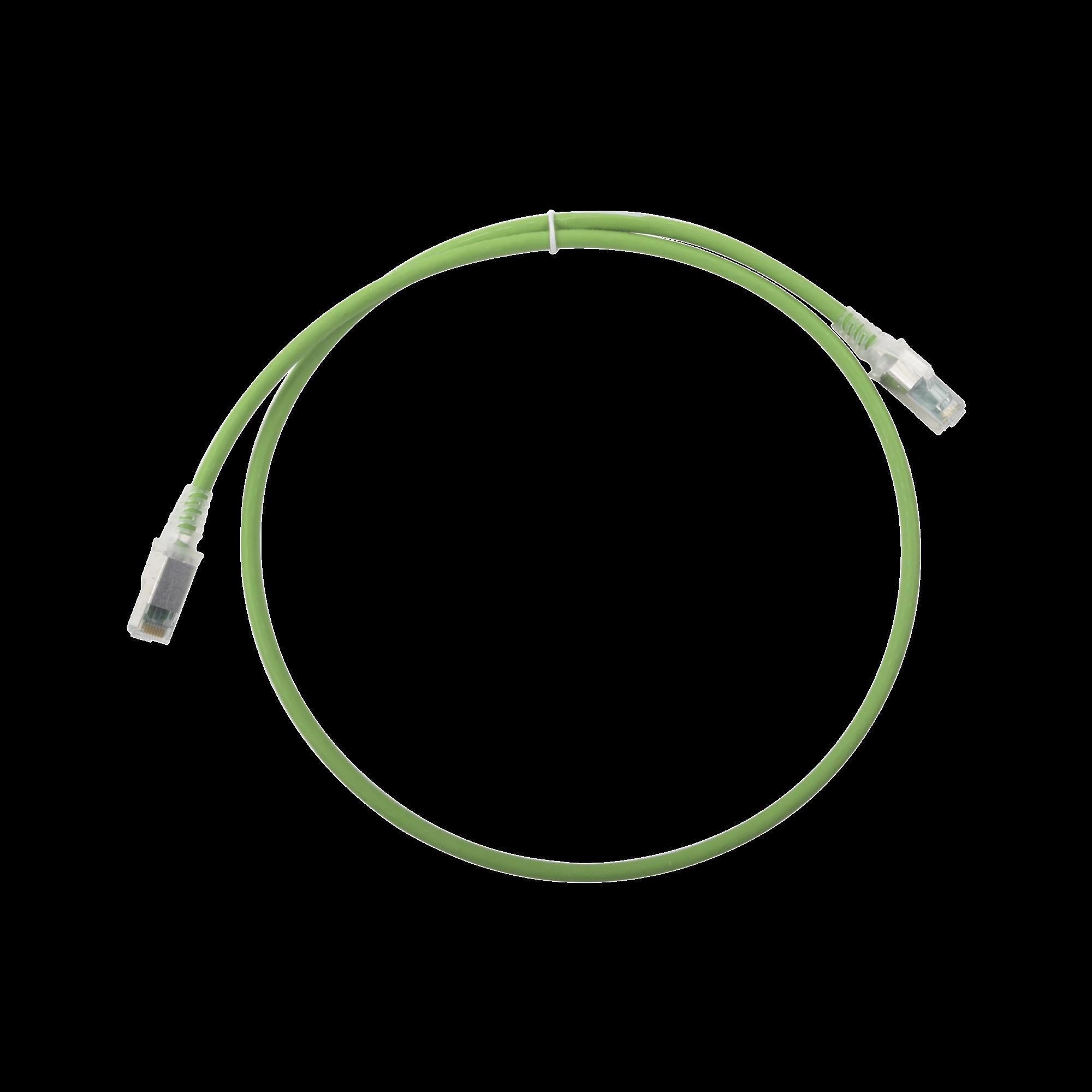 Patch Cord Z-MAX Cat6A S/FTP, CM/LS0H, 3ft, Color Verde, Versión Bulk (Sin Empaque Individual)
