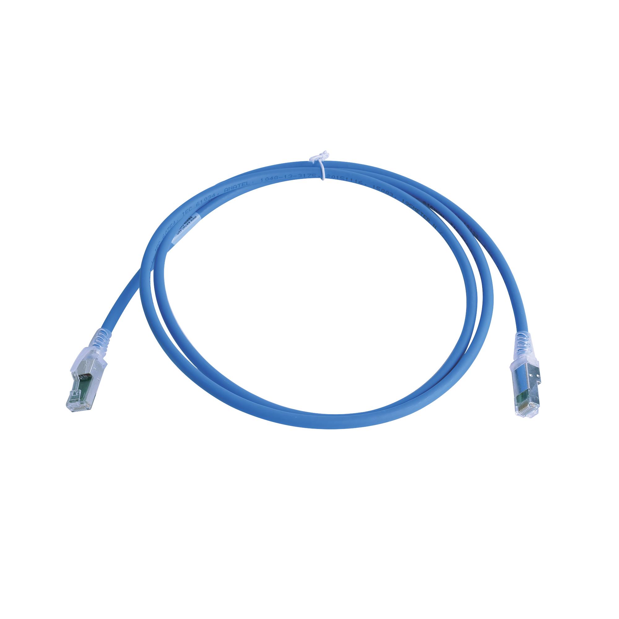 Patch Cord Z-MAX Cat6A S/FTP, CM/LS0H, 5ft, Color Azul, Version Bulk (Sin Empaque Individual)