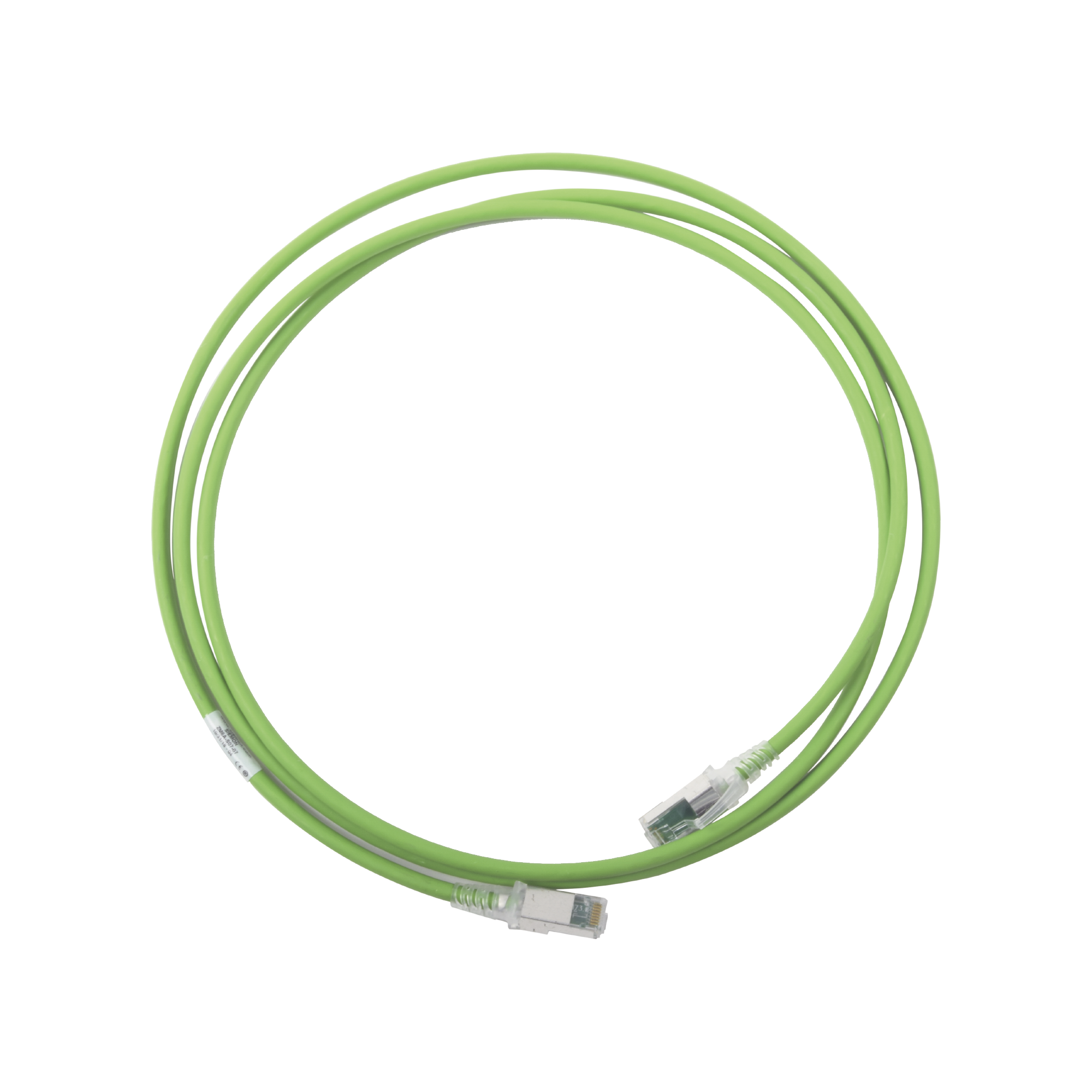 Patch Cord Z-MAX Cat6A S/FTP, CM/LS0H, 7ft, Color Verde