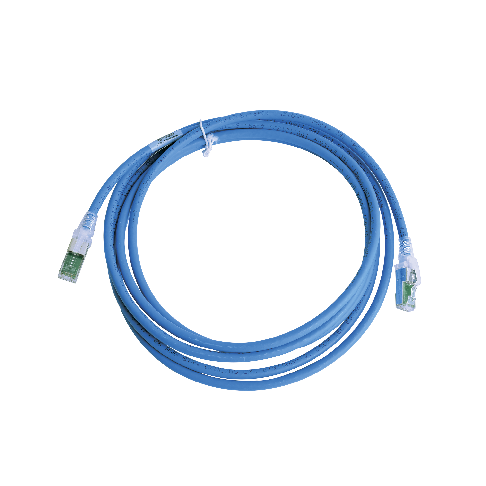 Patch Cord Z-MAX Cat6A S/FTP, CM/LS0H, 10ft, Color Azul, Versión Bulk (Sin Empaque Individual)