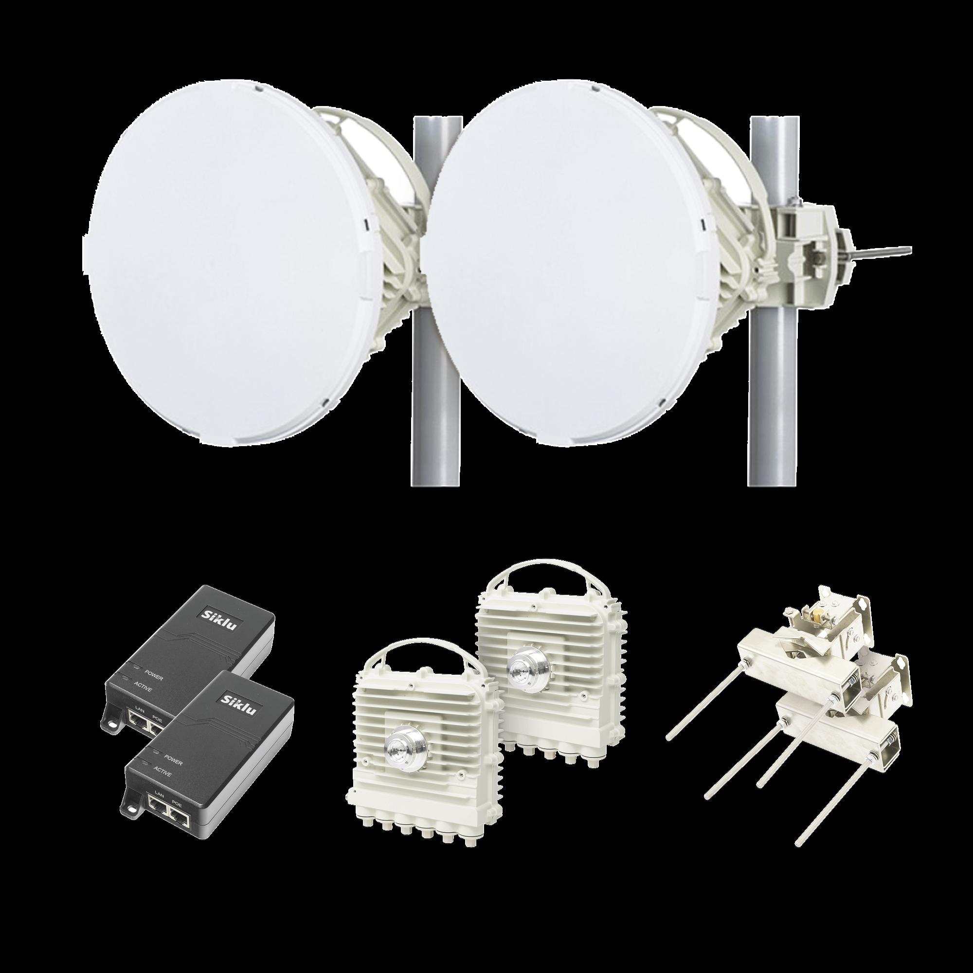 Enlace completo EH-2500-FX con  antenas de 1 pie / 1 Gbps Full Duplex (Actualizable a 2 Gbps) en Banda Libre