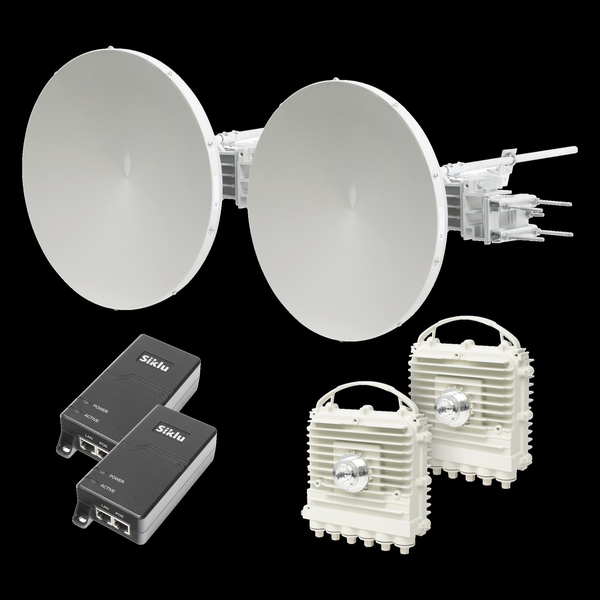 Enlace de Backhaul Completo Serie Kilo-EherHaul? EH-2500FX, Antenas de 2 ft, hasta 2 Gbps reales Full Duplex - Banda Libre en México