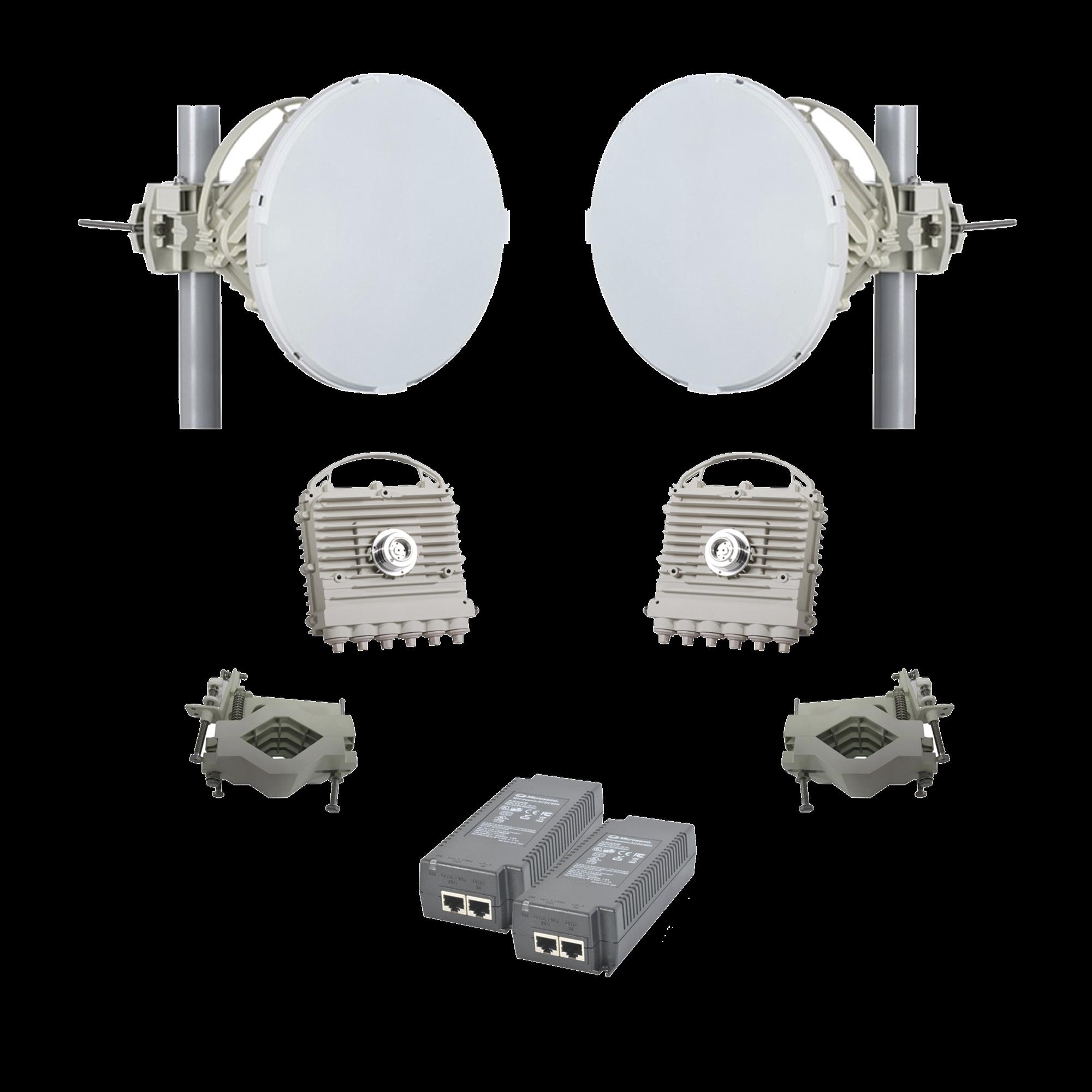 Enlace completo EH-5500-FD con  antenas de 1 pie / 2 Gbps Full Duplex (Actualizable a 5 Gbps) en Banda Libre