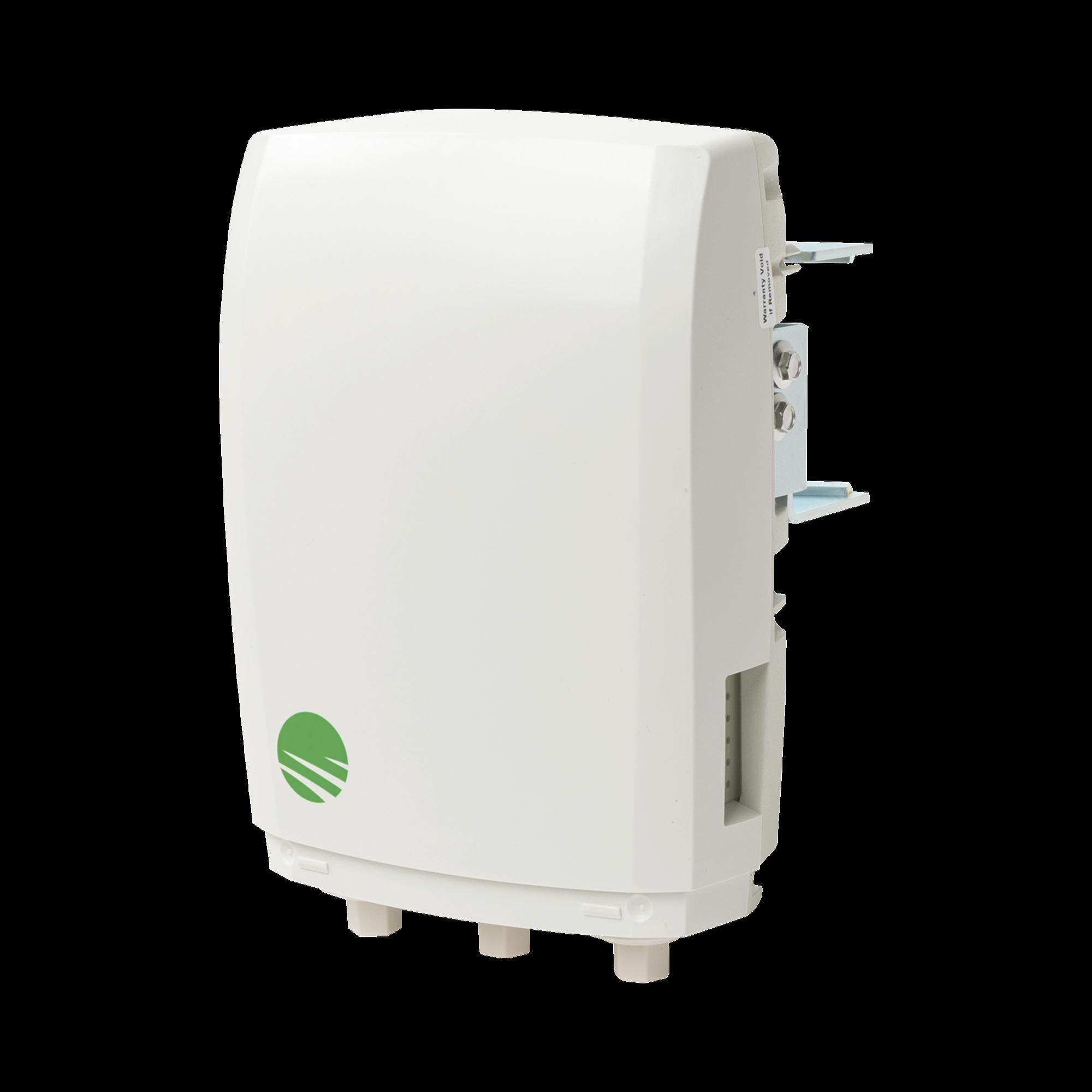 Unidad Base Multihaul BU?, 90?, 500Mbps actualizables a 1800Mbps, 2 puertos RJ-45 & 1 SFP (Salida PoE habilitada en 1 puerto), Montaje e inyector PoE incluidos, IP65, Color Blanco